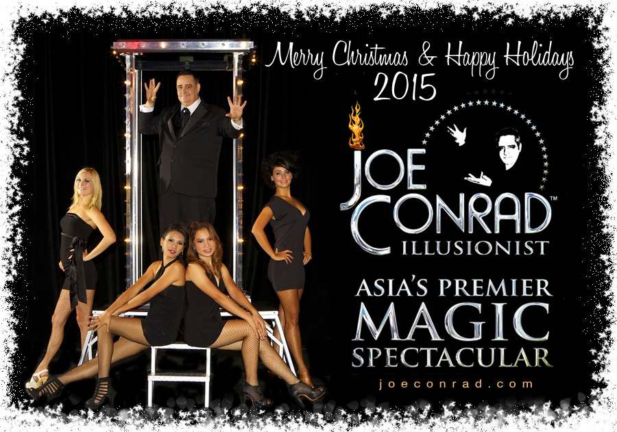 Merry Christmas & Happy Holidays 2015 From Illusionist Joe Conrad
