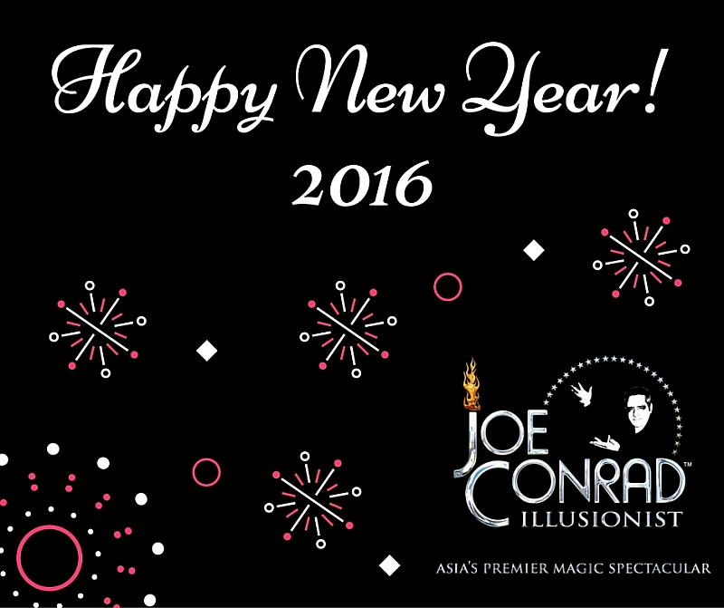 Happy New Year 2016 From Illusionist Joe Conrad